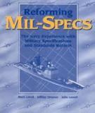 Reforming Mil-Specs - The Navy Experience with Military Specifications and Standards Reform
