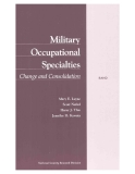 Military Occupational Specialties - Change and Consolidation
