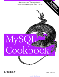 MySQL Cookbook 2nd Edition
