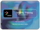Training Security EMEA - I