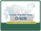 Backup and Restore in Oracle