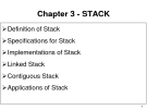Data Structures and Algorithms - Chapter 3 -STACK
