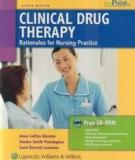 The clinical drug therapy rationales for nursing practice