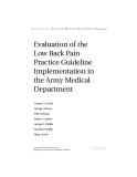 Evaluation of the Low Back Pain Practice Guideline