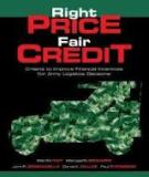 Right price fair credit criteria to improve financial incentives for army logistics decisions