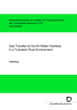Gas transfer at the air-water interface in a turbulent flow environment