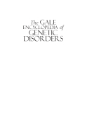 The GALE  Genetic Disorders VOLUME  of  2 M-Z