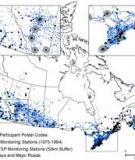 Spatiotemporal air pollution exposure assessment for a Canadian population-based lung cancer case-control study