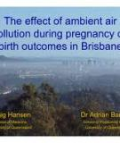 Exposure to ambient air pollution and prenatal and early childhood health effects