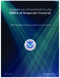 DHS' Oversight of Interoperable Communications