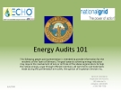 Energy Audits 101: WHAT IS AN ENERGY AUDIT?
