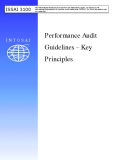 Performance Audit  Guidelines – Key  Principles