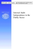 Internal Audit  Independence in the  Public Sector
