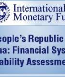 People's Republic of China: Financial System Stability Assessment
