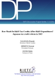 How Much Do R&D Tax Credits Affect R&D Expenditures?  Japanese tax credit reform in 2003