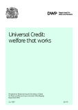 Universal Credit:   welfare that works.