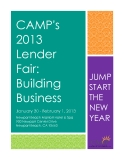 CAMP's  2013  Lender Fair:  Building  Business