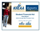 Student Financial Aid Data Report 2002-03 through 2006-07 Academic Years