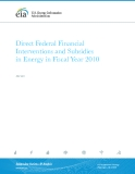 Direct Federal Financial Interventions and Subsidies in Energy in Fiscal Year 2010
