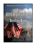 2010 ORGANIZATIONAL BRIEFING BOOK