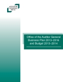 Offi  ce of the Auditor General Business Plan 2013–2016 and Budget 2013–2014