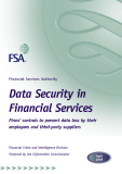 Financial Services Authority Data Security in Financial Services