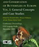 STUDIES ON THE ECOLOGY AND CONSERVATION OF BUTTERFLIES IN EUROPE: Vol. 1: General Concepts and Case Studies