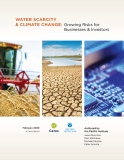 Water Scarcity & climate change: Growing Risks for Businesses & Investors