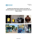 Combined household water treatment and indoor air  pollution projects in urban Mambanda, Cameroon and rural  Nyanza, Kenya
