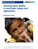 Drinking water quality  in rural India: Issues and  approaches