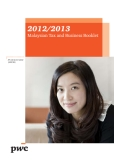 2012/2013 MALAYSIAN TAX ANF BUSINESS BOOKLET
