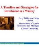 Writing a Business Plan: An Example for a Small Premium Winery