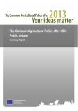 The Common Agricultural Policy after 2013  Public debate  Summary Report