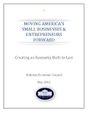 MOVING AMERICA'S  SMALL BUSINESSES & ENTREPRENEURS  FORWARD