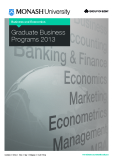 Business and Economics Graduate Business  Programs 2013