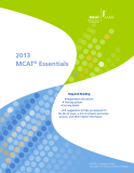 2013 MCAT® Essentials: Required Reading