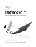 BUSINESS START-UP &  RESOURCE GUIDE  STARTING A BUSINESS IN NORTH CAROLINA