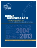 Book: DOING BUSINESS 2013 Smarter Regulations for Small and Medium-Size Enterprises