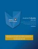 2012–2013   Academic Calendar: Calgary  edition devry institute of technology undergraduate education on campus and online