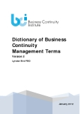 Dictionary of Business  Continuity  Management Terms