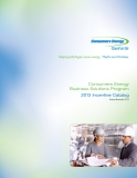 Consumers Energy    Business Solutions Program  2013 Incentive Catalog