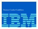 Business Conduct Guidelines: IBM