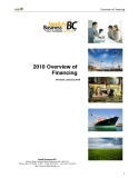2010 Overview of  Financing:   Small Business BC