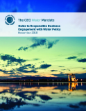 Guide to Responsible Business  Engagement with Water Policy November 2010