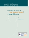 From Shop Floor to Top Floor: +       Best Business Practices  in Energy Efficiency