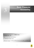 BASIC FINANCIAL ACCOUNTING: SYLLABUS CONTENT