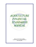 AGRICULTURE FINANCIAL STANDARDS MANUAL