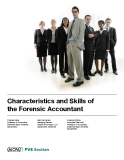 Characteristics and Skills of the Forensic Accountant