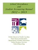 School Attendance and Student Accounting Manual 2012 – 2013