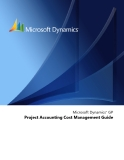 Microsoft Dynamics™ GP Project Accounting Cost Management Guide